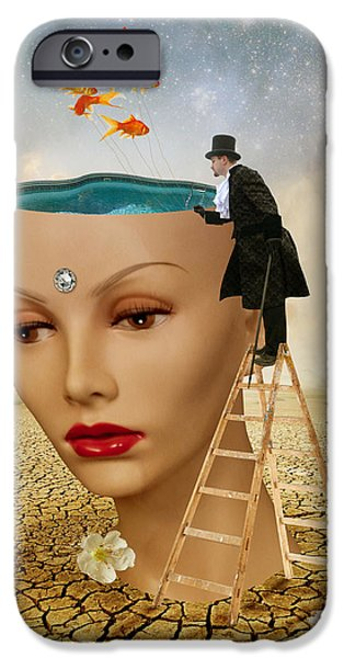 Digital Art Photographs iPhone Cases - I Want To Look Inside Your Head iPhone Case by Juli Scalzi