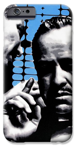 Film Paintings iPhone Cases - I Want You To Kill him iPhone Case by Luis Ludzska