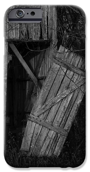 Maryland Barn Photographs iPhone Cases - I Watched You Disappear - BW iPhone Case by Rebecca Sherman