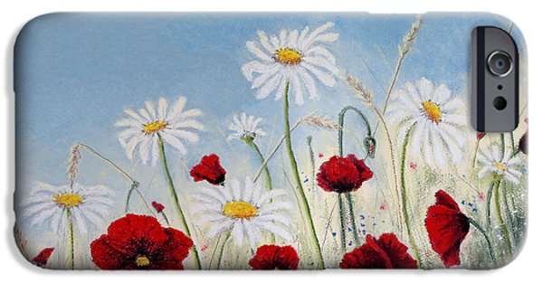 Field. Cloud Pastels iPhone Cases - I Will Give You a Daisy iPhone Case by Stanza Widen