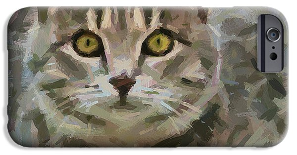 House Pet Digital Art iPhone Cases - I will jump on you iPhone Case by Yury Malkov