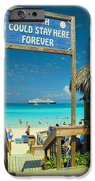 Private Island iPhone Cases - I Wish I Could Stay Here Forever iPhone Case by David Smith
