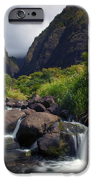 Storm iPhone Cases - Iao  Storm iPhone Case by Mike  Dawson
