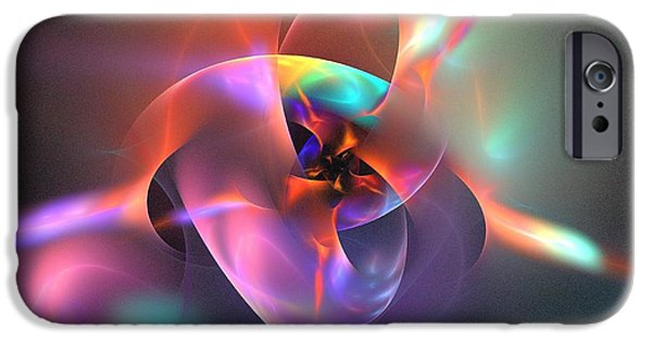 Abstract Digital iPhone Cases - Iapetus iPhone Case by Kim Sy Ok