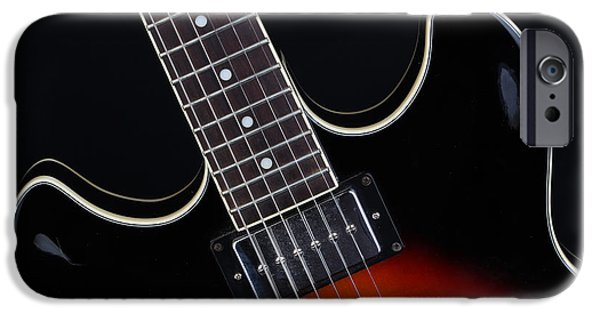 Drama iPhone Cases - Ibanez Hollow Body - 9323 iPhone Case by Gary Gingrich Galleries