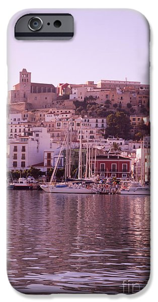 Dalt iPhone Cases - Ibiza old town in early morning light iPhone Case by Rosemary Calvert