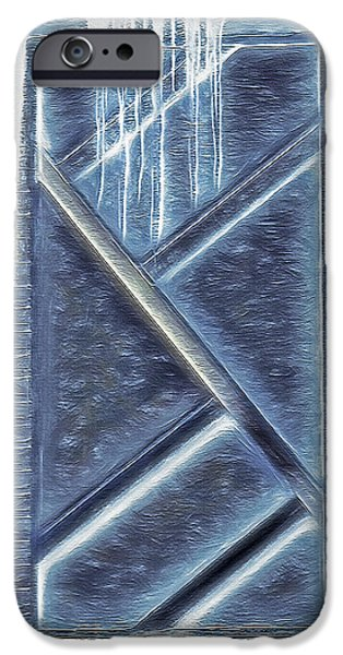 Wintry Mixed Media iPhone Cases - Ice Adjacent Building Design iPhone Case by Steve Ohlsen