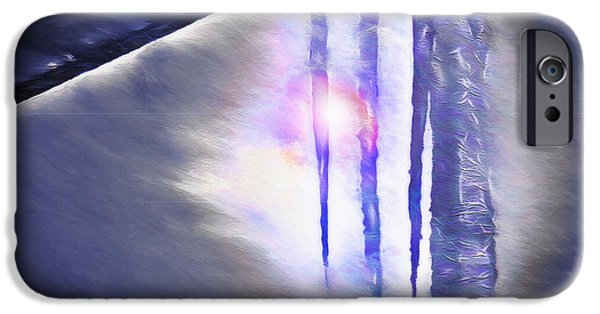 Wintry Mixed Media iPhone Cases - Ice - Break in the Storm iPhone Case by Steve Ohlsen