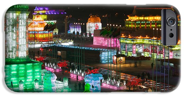 Art Of Building iPhone Cases - Ice Buildings At The Harbin iPhone Case by Panoramic Images