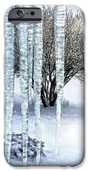 Snow Scene Digital iPhone Cases - Ice Capades iPhone Case by Doug Kreuger