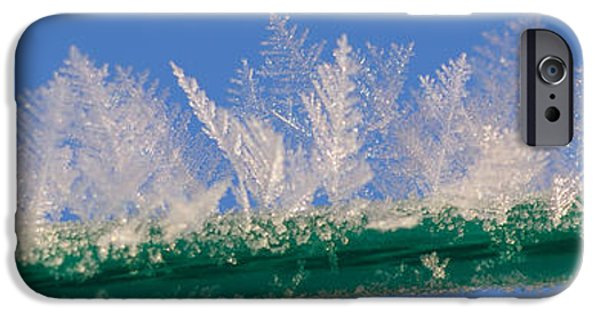 Abstract Digital Photographs iPhone Cases - Ice iPhone Case by Carol Lynch