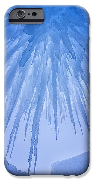 Winter Scene iPhone Cases - Ice Cave iPhone Case by Darren  White