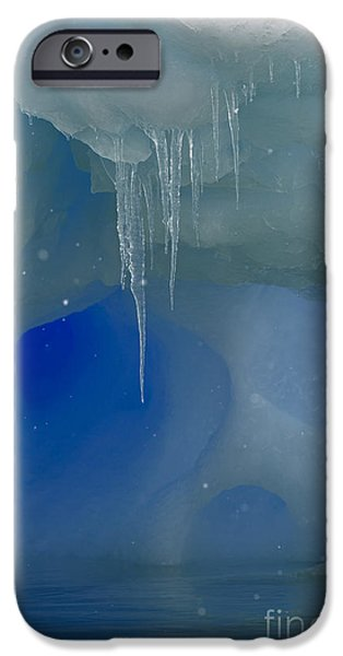 Nature Abstract iPhone Cases - Ice cold Fairytale... iPhone Case by Nina Stavlund