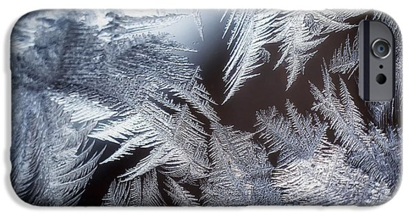 Frigid iPhone Cases - Ice Crystals iPhone Case by Scott Norris