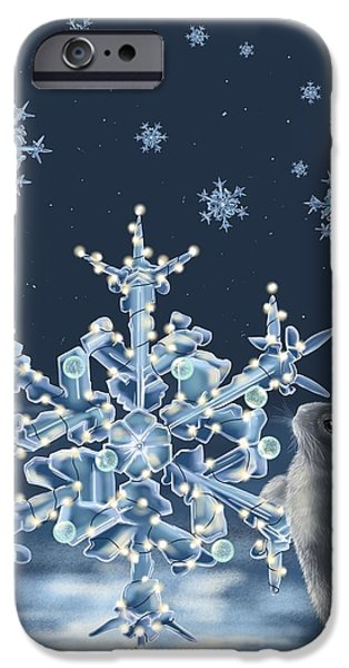 Snowscape Paintings iPhone Cases - Ice crystals iPhone Case by Veronica Minozzi