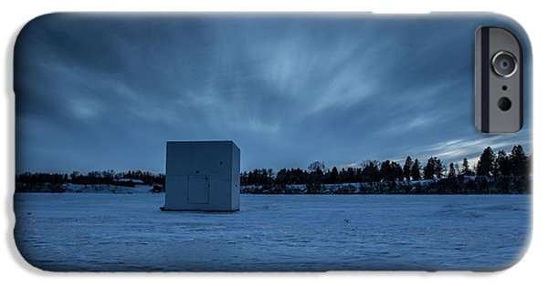 Minnesota iPhone Cases - Ice Fishing iPhone Case by Aaron J Groen