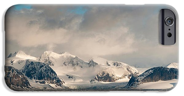 Norway iPhone Cases - Ice Floes And Storm Clouds In The High iPhone Case by Panoramic Images