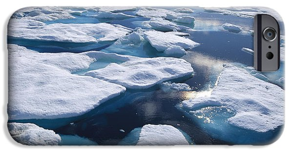 Canada Photograph iPhone Cases - Ice Floes In Arctic Northwest Territories iPhone Case by Konrad Wothe