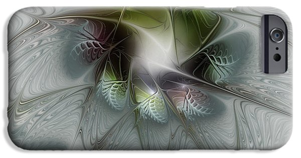 Abstract Flowers Images iPhone Cases - Ice Flower iPhone Case by Karin Kuhlmann