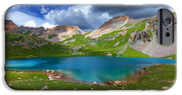 Basin iPhone Cases - Ice Lake Afternoon iPhone Case by Darren  White