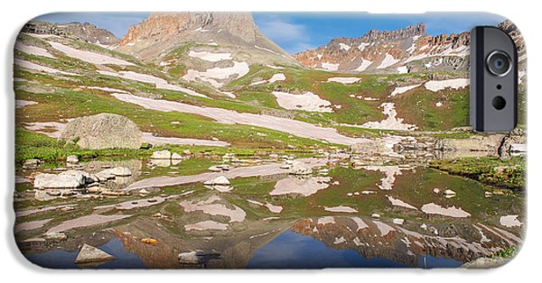 Snow Melt iPhone Cases - Ice Lakes Reflection iPhone Case by Aaron Spong