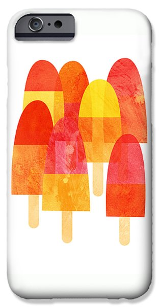 A Hot Summer Day iPhone Cases - Ice Lollies iPhone Case by Nic Squirrell