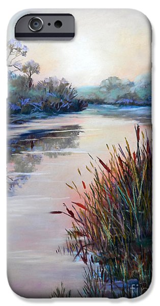 Impressionism Sculptures iPhone Cases - Ice on the Canal iPhone Case by Heather Harman
