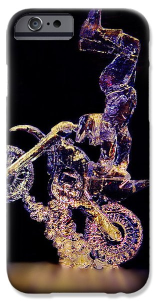 Transportation Sculptures iPhone Cases - Ice Rider iPhone Case by Larry Heins