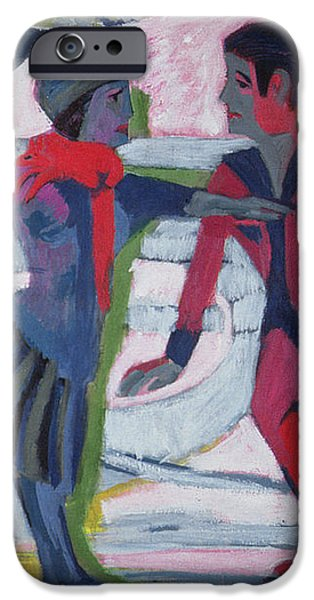 Ice Skaters  iPhone Case by Ernst Ludwig Kirchner