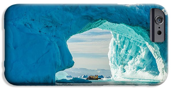 Boats iPhone Cases - Iceberg Arch iPhone Case by Duane Miller