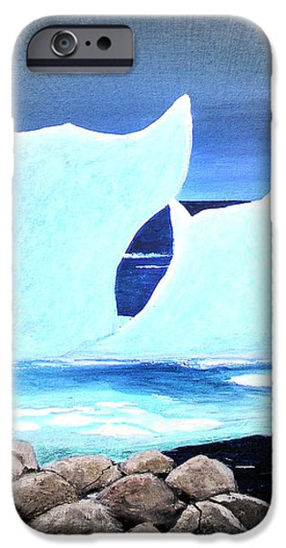 Icebergs at Sunset iPhone Case by Barbara Griffin