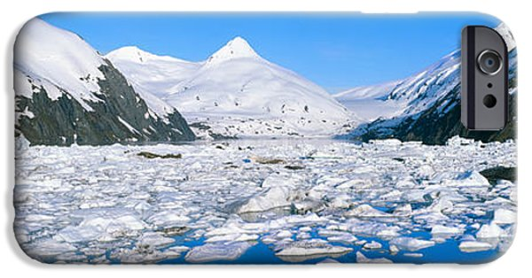 Frigid iPhone Cases - Icebergs In Portage Lake And Portage iPhone Case by Panoramic Images