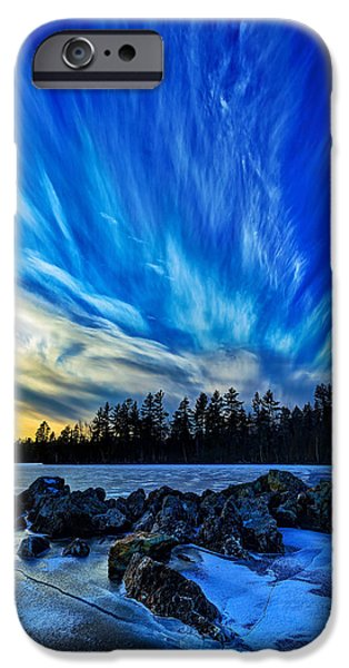 New England Snow Scene iPhone Cases - Icebound 3 iPhone Case by Bill Caldwell -        ABeautifulSky Photography