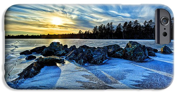 New England Snow Scene iPhone Cases - Icebound 5 iPhone Case by Bill Caldwell -        ABeautifulSky Photography