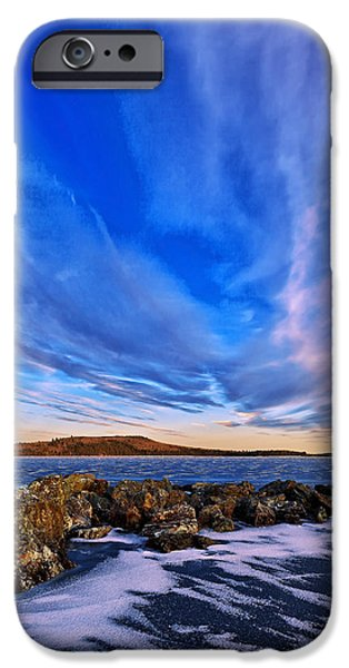 New England Snow Scene iPhone Cases - Icebound 6 iPhone Case by Bill Caldwell -        ABeautifulSky Photography
