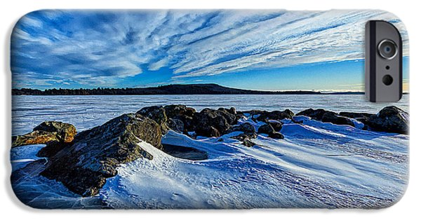 New England Snow Scene iPhone Cases - Icebound 7 iPhone Case by Bill Caldwell -        ABeautifulSky Photography