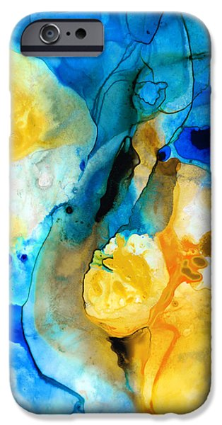 Recently Sold -  - Abstracts iPhone Cases - Iced Lemon Drop - Abstract Art By Sharon Cummings iPhone Case by Sharon Cummings