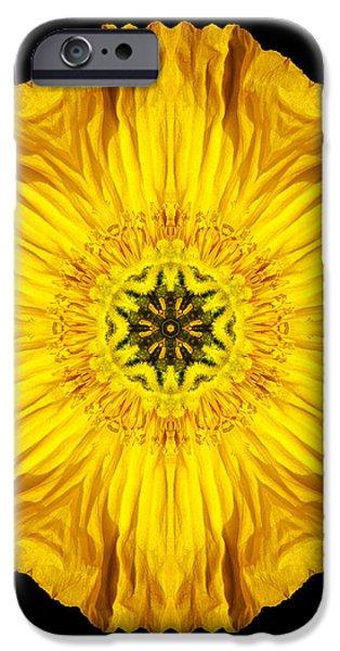 Iceland Poppy Flower Mandala iPhone Case by David J Bookbinder