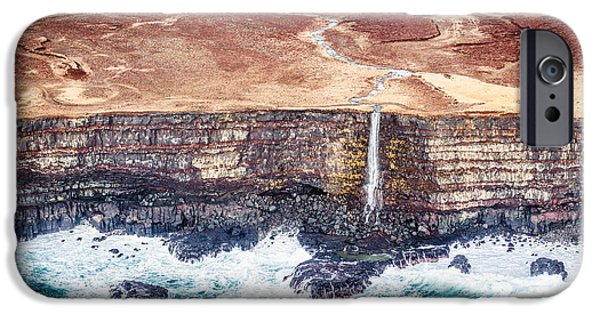 Water iPhone Cases - Icelandic Coast Waterfall iPhone Case by Duane Miller