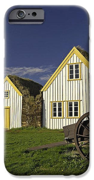 Icelandic Turf Houses iPhone Case by Claudio Bacinello