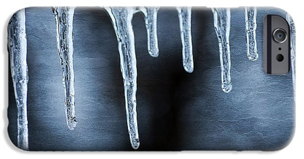 Wintertime iPhone Cases - Icicles iPhone Case by Darren Fisher