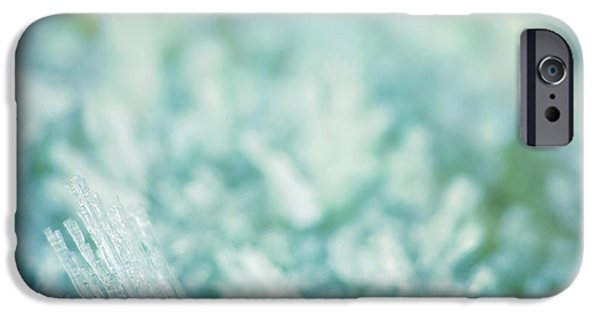 Ambiance iPhone Cases - Frost Crystals iPhone Case by Wim Lanclus