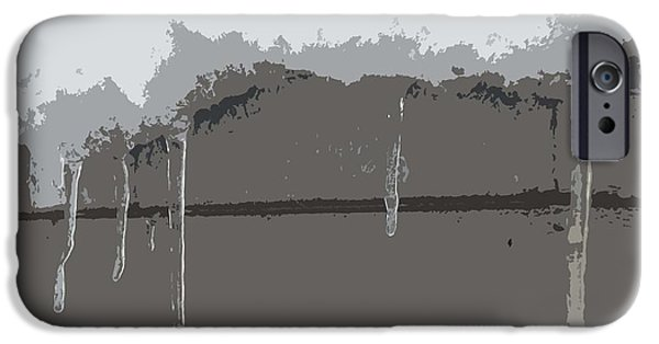 Snow Scene Mixed Media iPhone Cases - Icicles iPhone Case by Patrick J Murphy