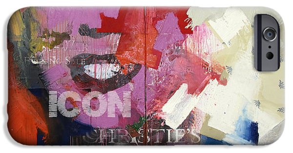 Etc. Paintings iPhone Cases - Icon I iPhone Case by Sheila Elsea