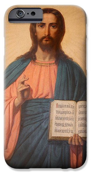 Orthodox Paintings iPhone Cases - Icon in St Stephens Bulgarian church  iPhone Case by Unknown