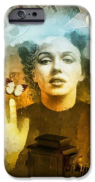 Iconic Mixed Media iPhone Cases - Icon iPhone Case by Mo T