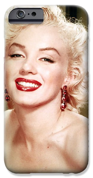 1950s Movies iPhone Cases - Iconic Marilyn Monroe iPhone Case by Nomad Art And  Design