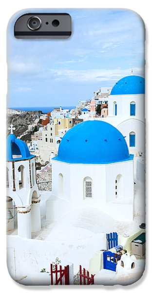 Greek Icon iPhone Cases - Iconic Oia - Santorini - Greece iPhone Case by Matteo Colombo