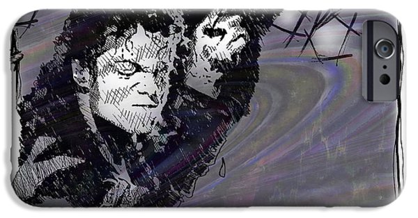 Mj Drawings iPhone Cases - ICONS - Michael Jackson iPhone Case by Jerrett Dornbusch