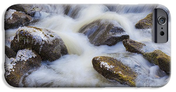 Wintertime iPhone Cases - Icy December Brook iPhone Case by Alan L Graham